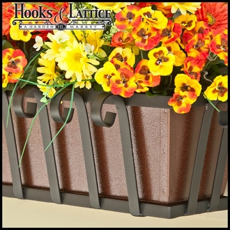 48in. Venetian Decora Window Box w/ Textured Bronze Liner (Hammered Finish)