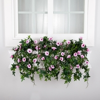 48in. Window Box Recipe - Outdoor Artificial Morning Glory Vines