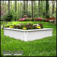 4ft x 8ft x 5 1/2in Recycled Plastic Lumber Raised Bed Kit