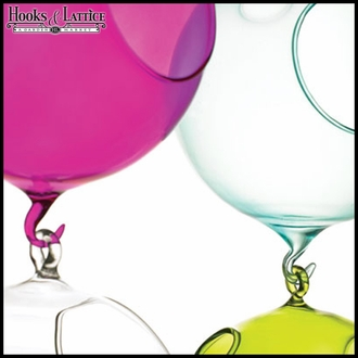 "5.5"" Double Hook Hanging Bubble Terrarium - Fuchsia"