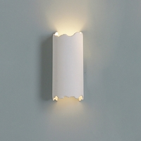 "5"" Contemporary Cylinder Sconce w/ Torn Edges"