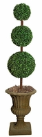 5' Outdoor Three Ball Topiary - Pot Not Included
