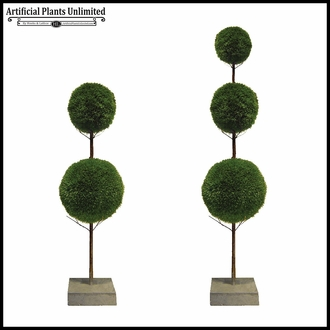7' Wheatgrass 3 Ball Topiary Sphere Tree, Outdoor