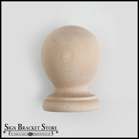 "5"" Wood Ball Finial - Furniture Grade, Style B5"