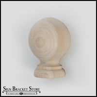 "5"" Wood Ball Finial - Furniture Grade, Style B6"