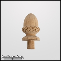 "5"" Wood Decorative Finial- Furniture Grade, Style D3"