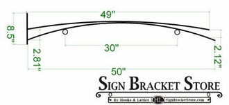 "50"" Haiku Arch Hanging Blade Sign Bracket"