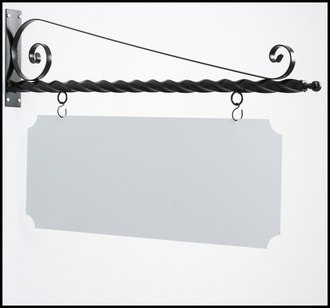 "52"" Twisted Arm Blade Sign Bracket"