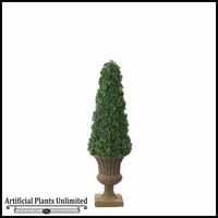 53in. Outdoor Artificial Ming Aralia Cone Topiary