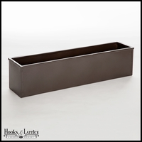 "54"" Metal Window Box Liner, Bronze-Tone Finish"