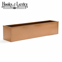 "54"" Metal Window Box Liner, Copper-Tone Finish"