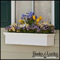 "54"" Newport Premier Window Box w/ *Easy Up* Cleat Mounting System"