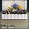 54in. Picket Fence Premier Window Box w/ *Easy Up* Cleat Mounting System (with 2/Countryside Plastic Liners Included)