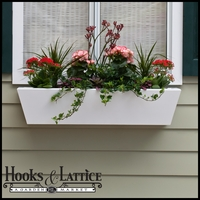 "54"" Tapered Urban Chic Premier Window Box w/ *Easy Up* Cleat Mounting System"