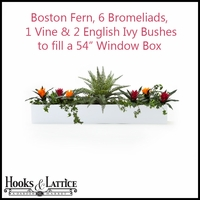 "54"" Window Box Recipe - Artificial Tropical Flowers"