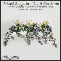 "54"" Window Box Recipe for Mixed Bougainvillea - Purple"