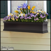 54in. Laguna Black Premier Direct Mount Flower Box