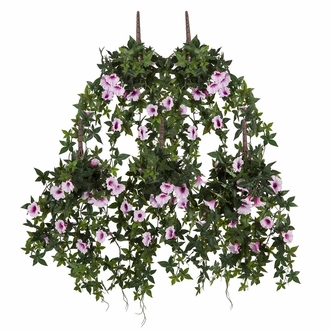 54in. Window Box Recipe - Outdoor Artificial Morning Glory Vines