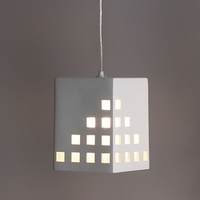 "6.5"" Block Pendant Light w/ Square Light Windows"