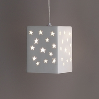"6.5"" Block Pendant Light w/ Star Pattern"