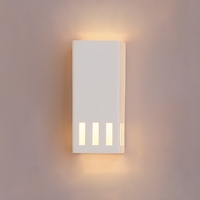 "6.5"" Ceramic Block Sconce w/ Light Windows"