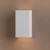 "6.5""  Ceramic Rectangle Wall Sconce"