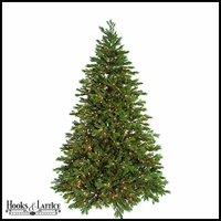 7.5 ft Norway Pre-Lit Spruce Artificial Christmas Tree w/ Warm White LED Lights