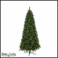 10 ft Monroe Pre-Lit Pine Artificial Christmas Tree w/ Clear LED Lights
