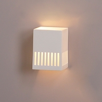 "6.5"" Geometric Sconce w/ Barcode Borders"
