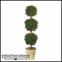 6.5' Tall Boxwood Ball Topiary - Indoor
