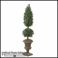 6' Artificial Laurel Topiary Tree - Indoor
