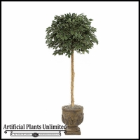 6' Artificial Sakaki Topiary Tree - Indoor