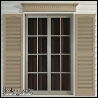 "6"" Classic Dentil Decorative Window Header"