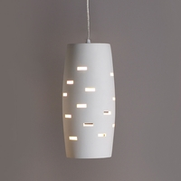 "6"" Convex Cylinder Pendant Light w/ Horizontal Slits"