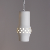 "6""  Lantern Pendant Light w/ Diamond Pattern"
