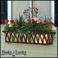 "60"" Arch Decora Window Box  w/ Real Copper Liner"