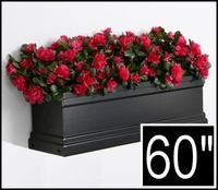 "60"" Black Supreme Fiberglass Window Box"
