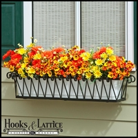 60in. Del Mar Decora Window Box w/ (2) Vinyl Liners