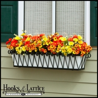 60in. Del Mar Decora Window Box w/ White Galvanized Liner