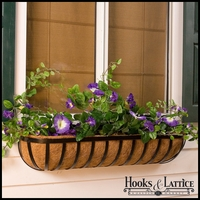 "60"" Deluxe English Garden Window Box w/ Std. Coconut Coir Liner"