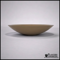 "60""Dia. x 13""H Modern Low Bowl Planter"
