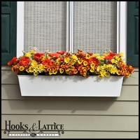 60in. Galvanized Window Box - White