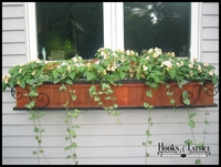 "60"" Iron Scroll with Slatted Redwood Window Box"