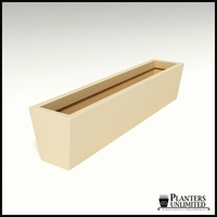 Modern Tapered Fiberglass Commercial Planter 60in.L x 12in.W x 12in.H