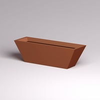 Modern Tapered Fiberglass Commercial Planter 60in.L x 18in.W x 18in.H