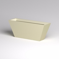 Modern Tapered Fiberglass Commercial Planter 60in.L x 18in.W x 24in.H