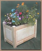 "60""L x 24""W x 16""H Cedar Post Deck Planter"