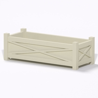 Main Street Premier Composite Commercial Planter 60in.L x 24in.W x 19in.H