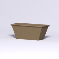 Tuscana Tapered Fiberglass Commercial Planter 60in.L x 24in.W x 24in.H