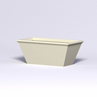 Tuscana Tapered Fiberglass Commercial Planter 60in.L x 30in.W x 24in.H